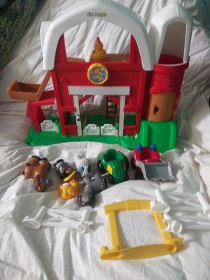 Little People Barn Farm House & Figurines for Sale in Cornelius, OR