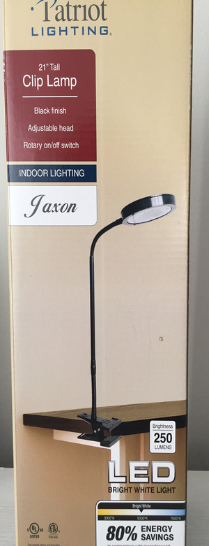 Brand New Premium Patriot Lighting LED Clip Lamp 21'' for Sale in Los Angeles, CA