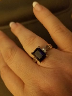 Sterling Silver Dark Blue Sapphire Ring for Sale in Nashville, TN