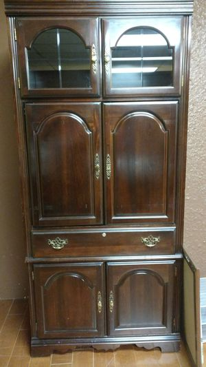 Fine Tall Wood Bookshelves with Cabinet for Sale in Tulsa, OK
