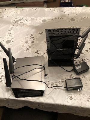 Nighthawk wireless router and extender $200 for both or best offer for Sale in Nashville, TN
