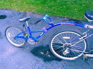 Pathfinder kids bike trailer tag-a-long w 2 hitches for Sale in Elmhurst, IL