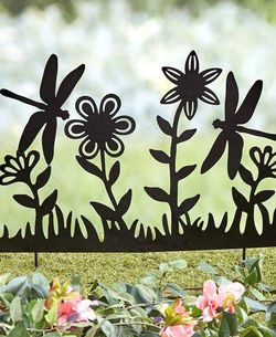 New LARGE-Silhouette Dragonfly & Flower Stake for Sale in Buena Park,  CA