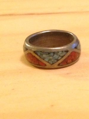 Turquoise silver red ring for Sale in Nashville, TN