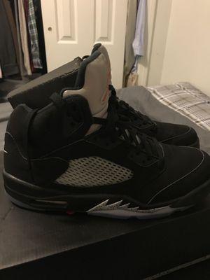 Air Jordan Retro 5 Metallic Black size 12 for Sale in Boston, MA