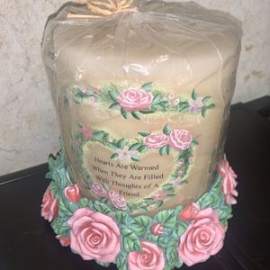 Jumbo Candle And Base Brand New for Sale in Davenport, FL