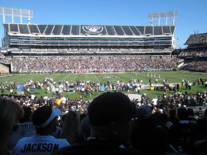 Raider Tickets 2019 Home Games *ALL GAMES LISTED* Price per game is 2 SEATS! BEST SEATS behind Raider bench!!! for Sale for sale  San Diego, CA