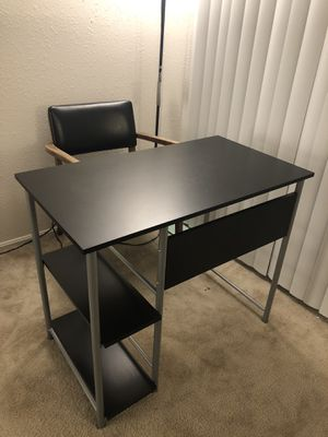 Office desk with 2 side shelves (the chair for free) for Sale in Hazelwood, MO