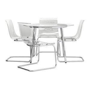 Ikea glass dining table and chairs for Sale in Pittsburgh, PA