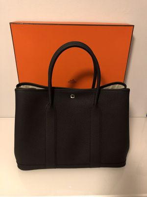 Hermes Garden Party 36 in Black Negonda Leather for Sale in Los Angeles, CA