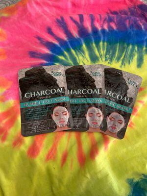 Charcoal bubble face masks (set of 3) for Sale in Phoenix, AZ