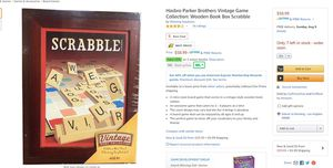 """Brand New -scrabble board game """"vintage edition"""" in wood box for Sale in Los Angeles, CA"""
