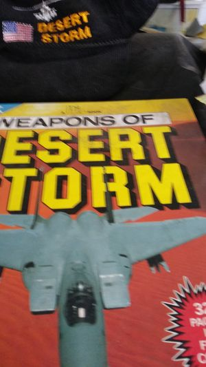 Desert Storm books and cards and cap and t-shirt awesome Desert Storm for Sale in Azusa, CA