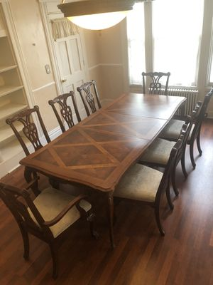 Dining Room Table and 8 Chairs for Sale in Englewood Cliffs, NJ