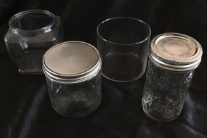 4 Glass Jars, 2 w/Lids, Assorted sizes. for Sale in San Diego, CA