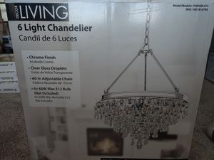 Decor Living 6 Light Chandelier for Sale in Cedar Hill, TX