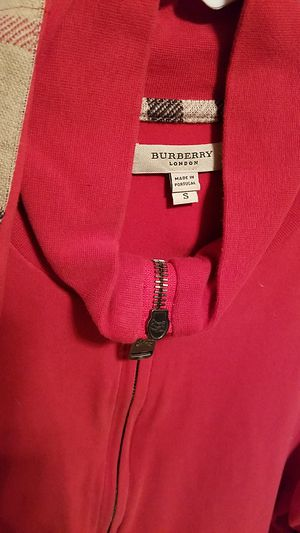 Burberry mens Zip Up jacket size small for Sale in TX, US