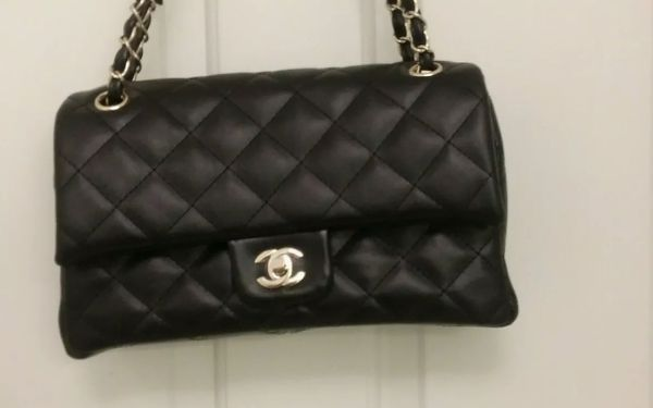 Chanel 2.55 Lambskin Bag Double Flap Black for women style
