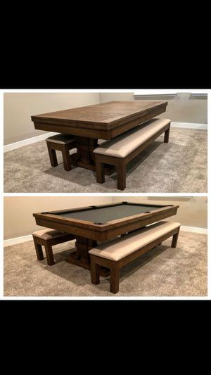 7ft Rustic Dining Style Pool Table for Sale in Odessa, FL