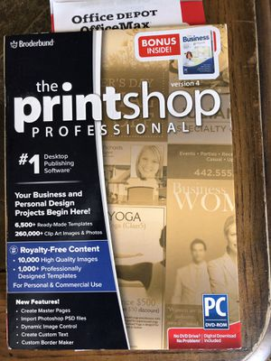 Brøderbund Print Shop 4.0 plus business download as bonus for Sale in Destin, FL