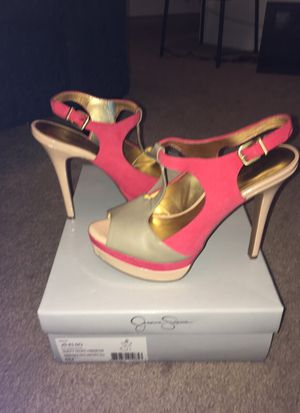 Taupe/pink Jessica Simpson heels for Sale in Murfreesboro, TN