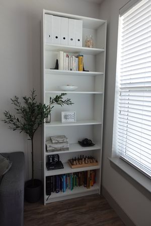 White IKEA billy bookcase with height extension unit for Sale in Plano, TX
