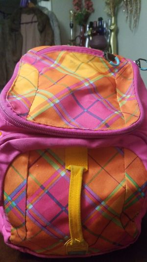 Embark Plaid Pink Orange Backpack for Sale in Dallas, TX