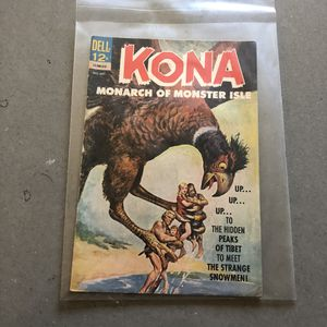 Dell comics October to December 19 $.63 Kona Monarch of the monster Isle Comic book for Sale in Seattle, WA