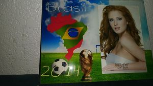 World cup 2014 brasil glass photo frame brand new for Sale in Los Angeles, CA