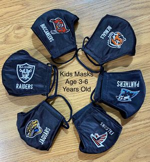 Sports 🏈 Kids Face Masks Protection Embroidery for Sale in Glendale, AZ