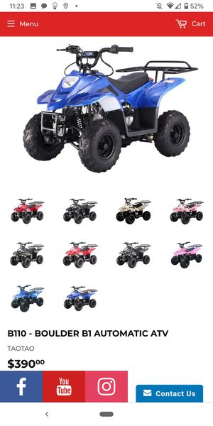 110cc. ATVs. Wholesale. Price. Automatic. On sale. At turbopowersports on line order only for Sale in Riverside, CA