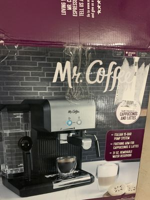 Mr. Coffee Espresso and Cappuccino Maker | Café Barista , Silver for Sale in Houston, TX