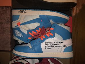 Off White x Jordan 1 UNC (UA 1:1) size 10.5 for Sale in The Bronx, NY