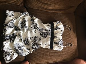 White dress with black flowers. Size three for Sale in Brandon, FL