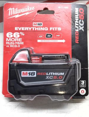 Milwaukee 5.0 battery for Sale in Azusa, CA