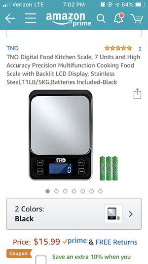 TNO Digital Food Kitchen Scale for Sale in Greensboro, NC