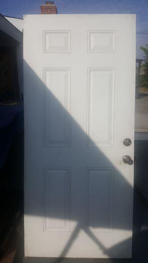 36in. 6 panels metal exterior door solid core for entrance, garage ... for Sale in Garden Grove, CA