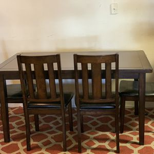 Dining Table With 4 Chairs and A Bench for Sale in Sunnyvale, CA