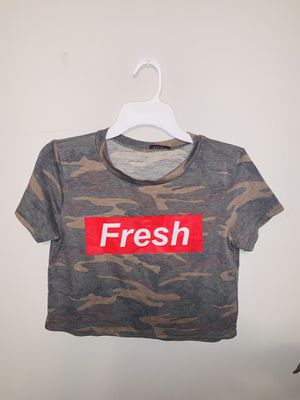 Camo Shirt Crop Top for Sale in Houston, TX