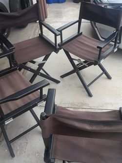 4 Director Style Chairs for Sale in Riverside,  CA