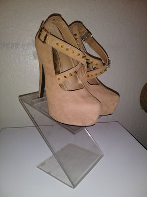 High Heels - Velour Tan for Sale in Fresno, CA