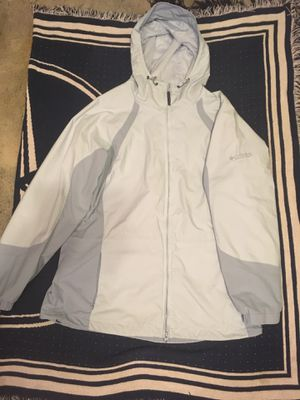 Vintage blue mist/light grey Columbia jacket for Sale in Vancouver, WA
