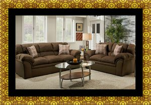 Chocolate fabric sofa and loveseat for Sale in Washington, DC