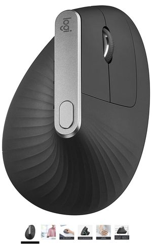 Logitech MX Vertical Wireless Mouse – Advanced Ergonomic Design Reduces Muscle Strain, Control and Move Content Between 3 Windows and Apple Computers for Sale in Fairfax, VA