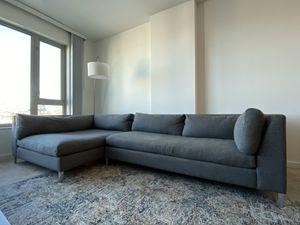CB2 Decker 2-Piece Asphalt Sectional Sofa for Sale in Oakland, CA