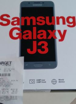 New Samsung Galaxy J3, Factory Sealed, With Receipt for Sale in Hoffman Estates,  IL