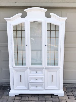 Solid Wood China Cabinet with Light for Sale in Fort Myers Beach, FL