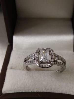 New Solid 925 Sterling Silver Engagement ring size 8 $55 OR BEST OFFER for Sale in Phoenix, AZ