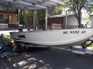 Lowe Angler Boat 1467T, and Yamaha Outboard Motor for Sale in Revere, MA