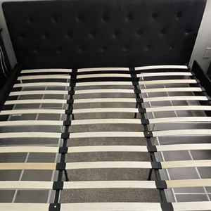 King Size Black Bed Frame With Underbed storage for Sale in Marietta, GA